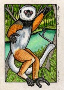 Angela Oliver lemur art